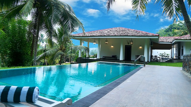 Swimming pool at resort