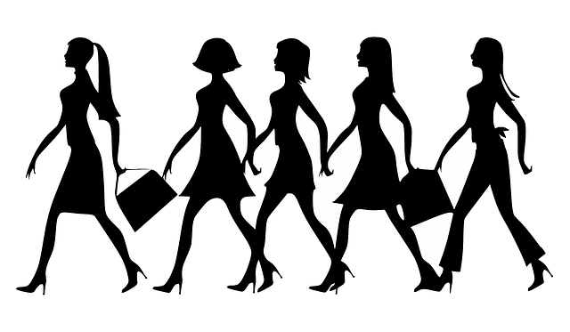 Women with handbag
