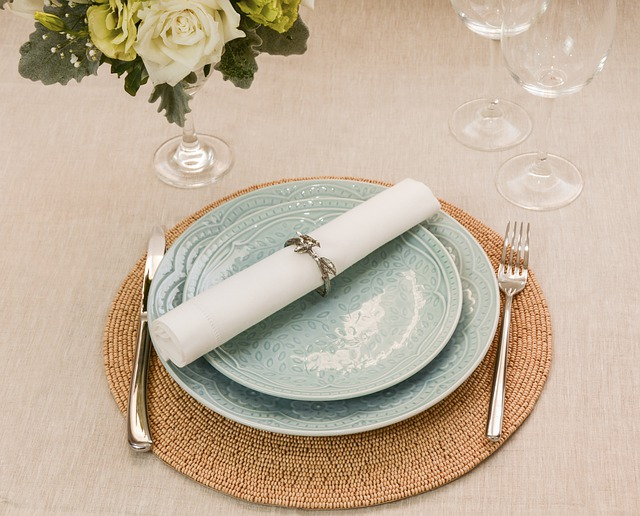 one table setting with plates, flatware and napkin - tips for picking a table setting for entertaining